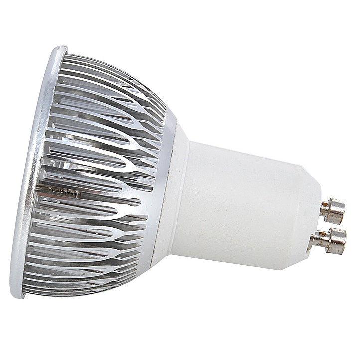 4Pack 3W(3x1W) 120V/220V AC Non-dimmable LED Spotlight GU10 Bi-Pin Base Aluminum Housing 30° Beam Angle