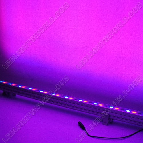 LightingWill FREE SHIPPING 36Watt RGB Linear LED Wall Washer 110-265V AC Flood Light Standalone Operating, DMX 512 Controllable and Master/Slave Workable, IP65 Waterproof for Outdoor Use