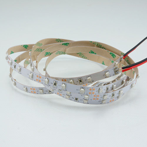 DC12V 5Meter/16.4ft 24W Tri-Chip SMD2835 300LEDs 850nm 940nm IR InfraRed Flexible LED Strips White PCB 60LEDs 4.8W Per Meter for Multitouch Screen, Night Light Application