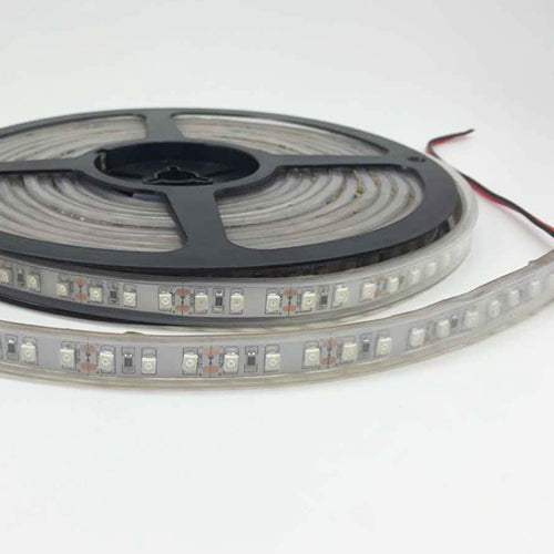 DC12V 5Meter/16.4ft 48W High Intensity Tri-Chip SMD2835 600LEDs 850nm 940nm IR InfraRed Flexible LED Strips White PCB 120LEDs 9.6W Per Meter for Multitouch Screen, Night Light Application
