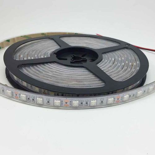 DC12V 5Meter/16.4ft 72W Tri-Chip SMD5050 300LEDs 850nm or 940nm IR InfraRed Flexible LED Strips White PCB 60LEDs 14.4W Per Meter for Multitouch Screen, Night Light Application