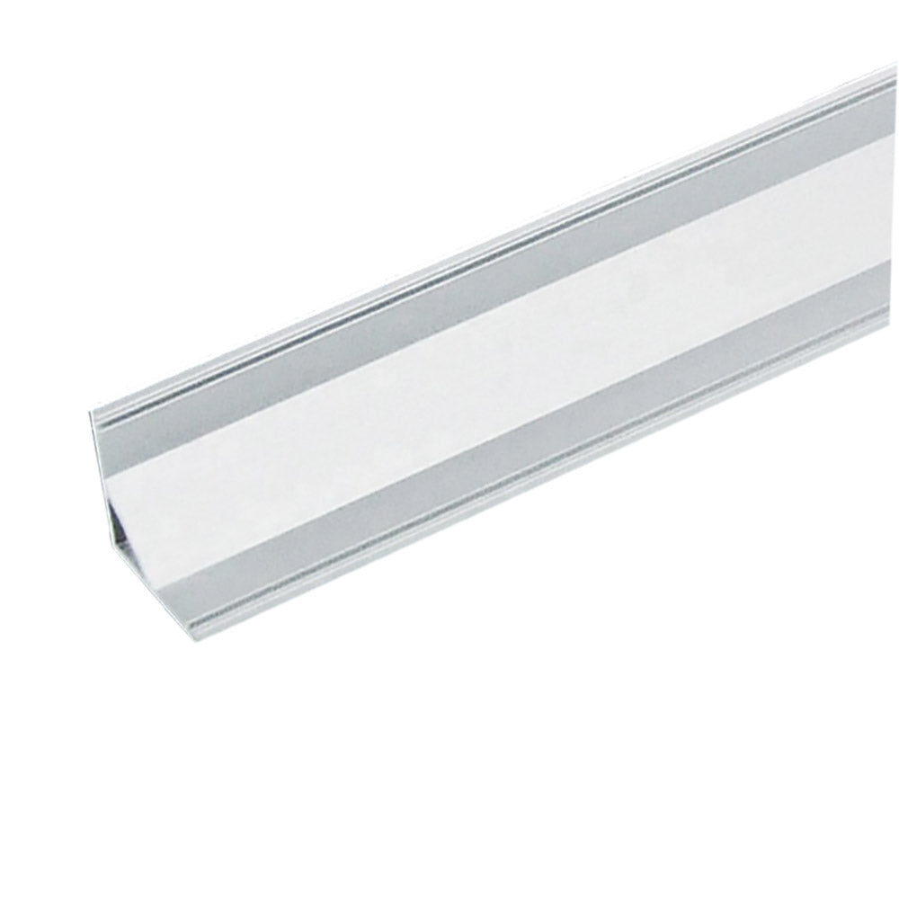 15.8MM*15.8MM Mini V Shape LED Aluminum Profile with Arched White Cover for Corner Mounting LED Strips Lighting