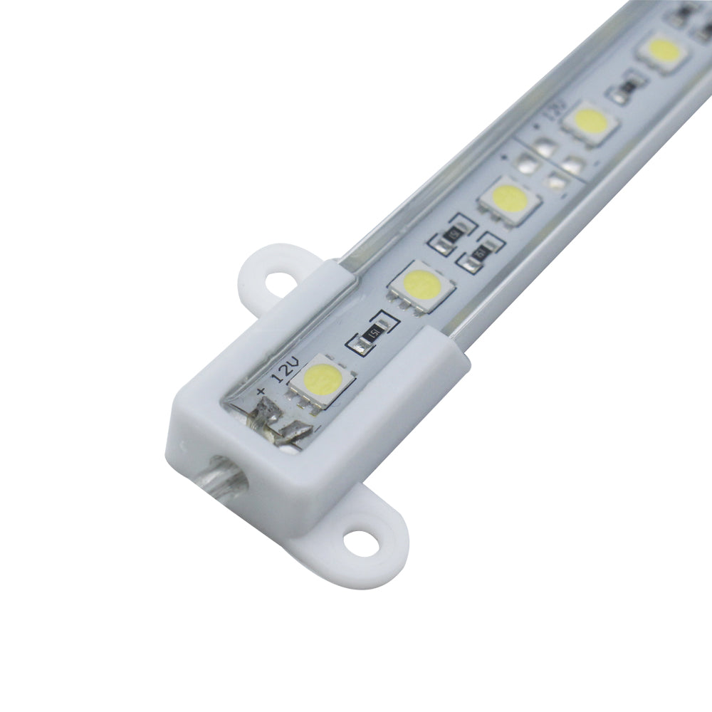 5-Pack 1.64ft/50cm DC 12V 7.2Watt SMD5050-30 12mm Wide Waterproof Aluminum Shell LED Rigid Light Bar