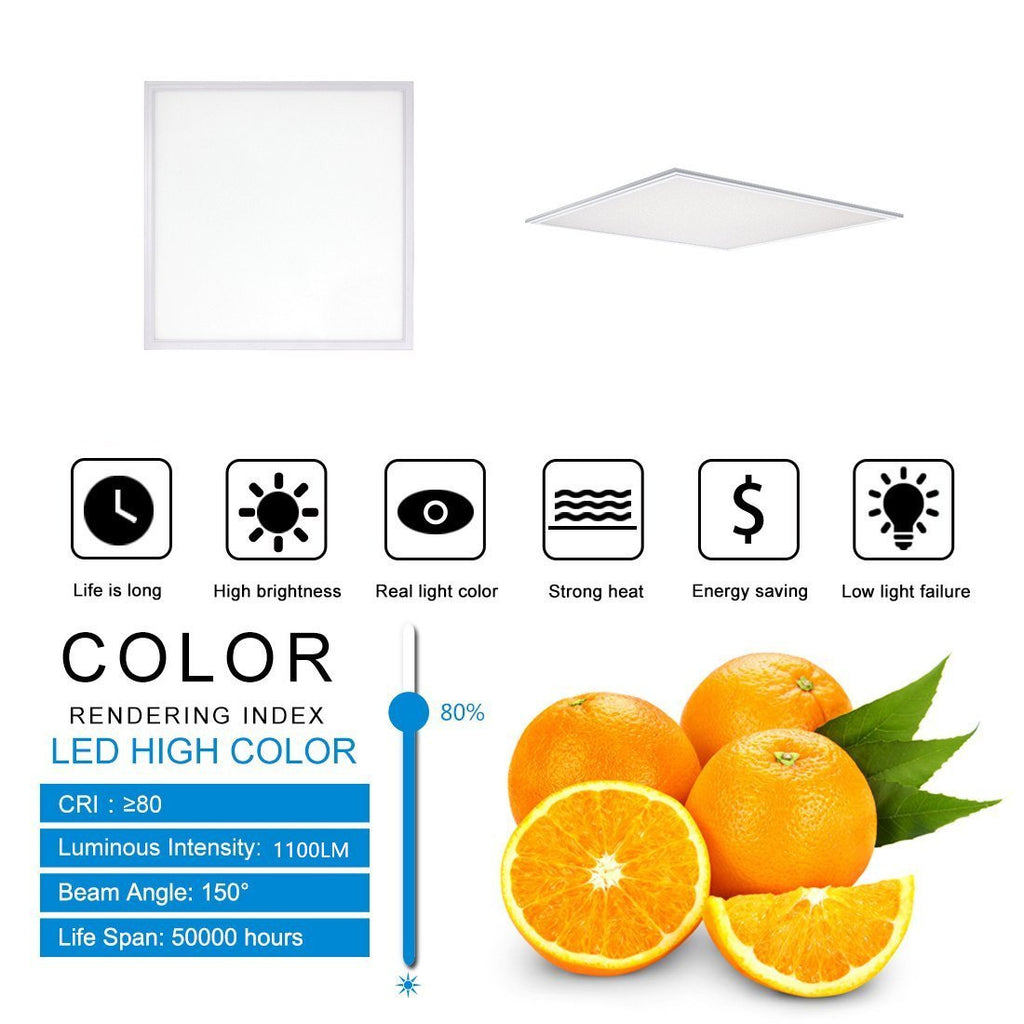 1'x1' (295x295mm) 12W LED Panel Light in 0.39'' (10mm) Thick White Trim Flat Sheet Panel Lighting Board Super Bright Ultra Thin Glare-Free
