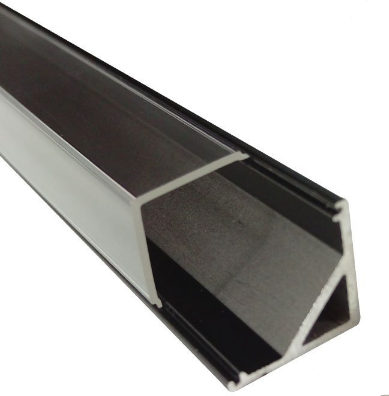 Black V01 16x16mm V-Shape Vertical Angle Cover Internal Width 12mm Corner Mounting LED Aluminum Channel with End Caps and Mounting Clips Aluminum Extrusion