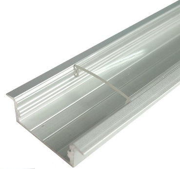 Silver U04 10x23mm U-Shape Internal Width 20mm LED Aluminum Channel System with Cover, End Caps and Mounting Clips Aluminum Extrusion for LED Strip Light Installations