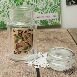 Small 50s advertising jar glass  with original label . Intact