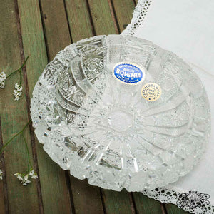Bohemian crystal ashtrays