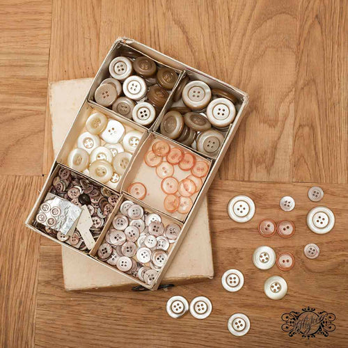 plastic 60s buttons