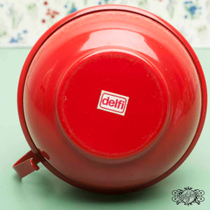 red vintage lantern delfi mark