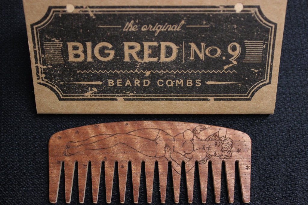 Big Red Comb, Schmiere Waterbased, Groomed beard