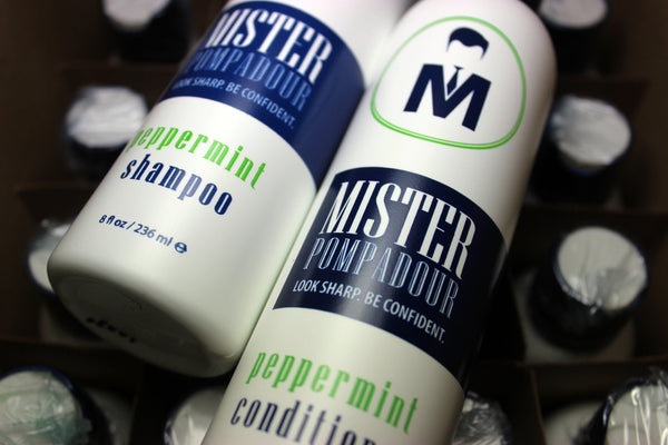 Mister Pompadour's Peppermint Shampoo and Conditioner