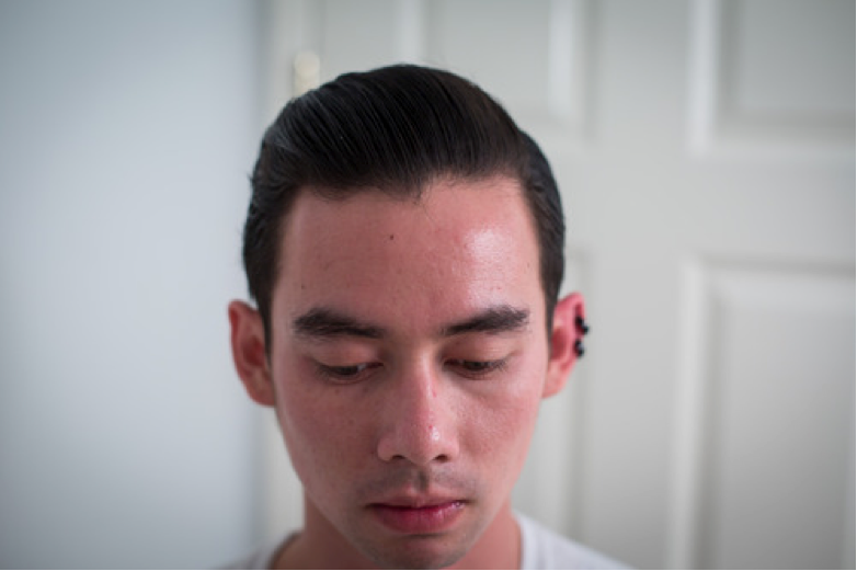 Harrison - hair re-styled with Prospectors Pomade Gold Rush - Side View