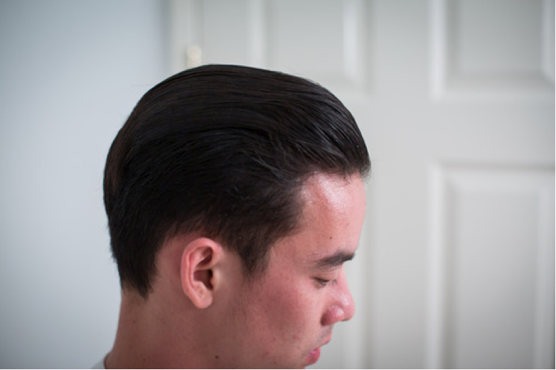 Harrison - hair styled with Prospectors Pomade Gold Rush - Side View