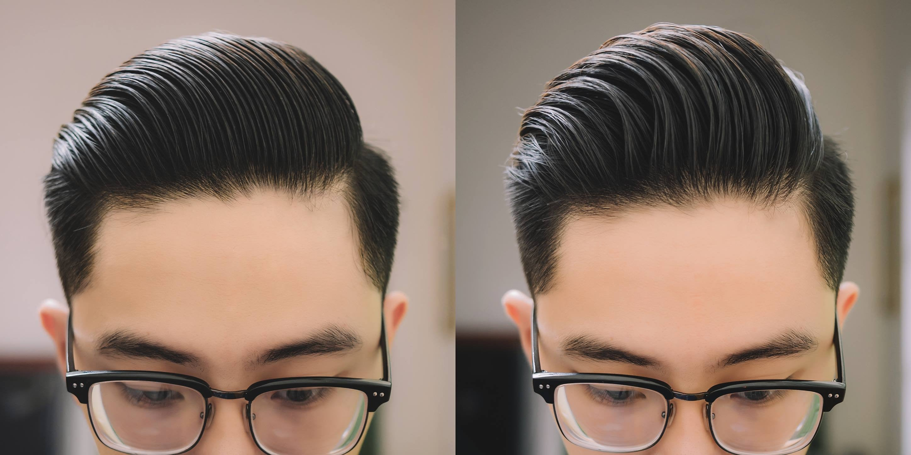 different combing styles using Odouds Matte Paste