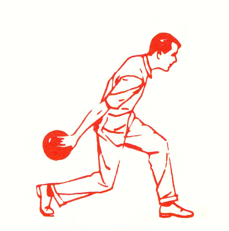 Illustration of a man bowling