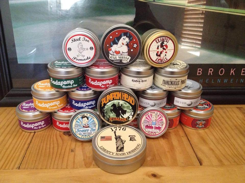 JC Hillhouse's pomade own brand pomade collection