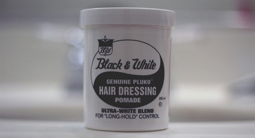 Black and White Hair Dressing - Genuine Pluko Pomade