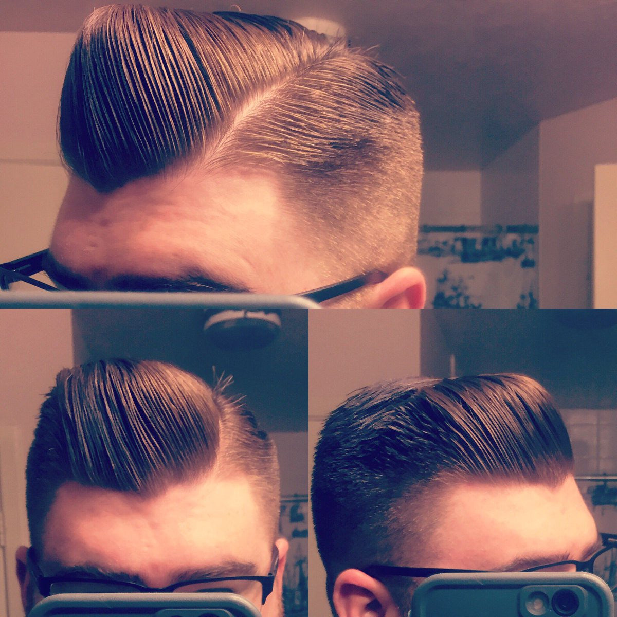 Gentleman with side parted hair