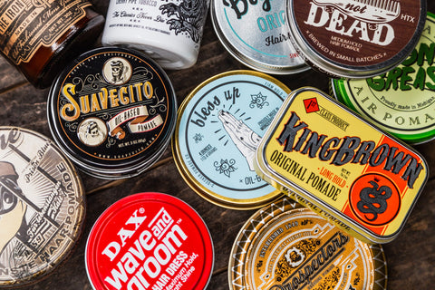 Oil Based pomade collage