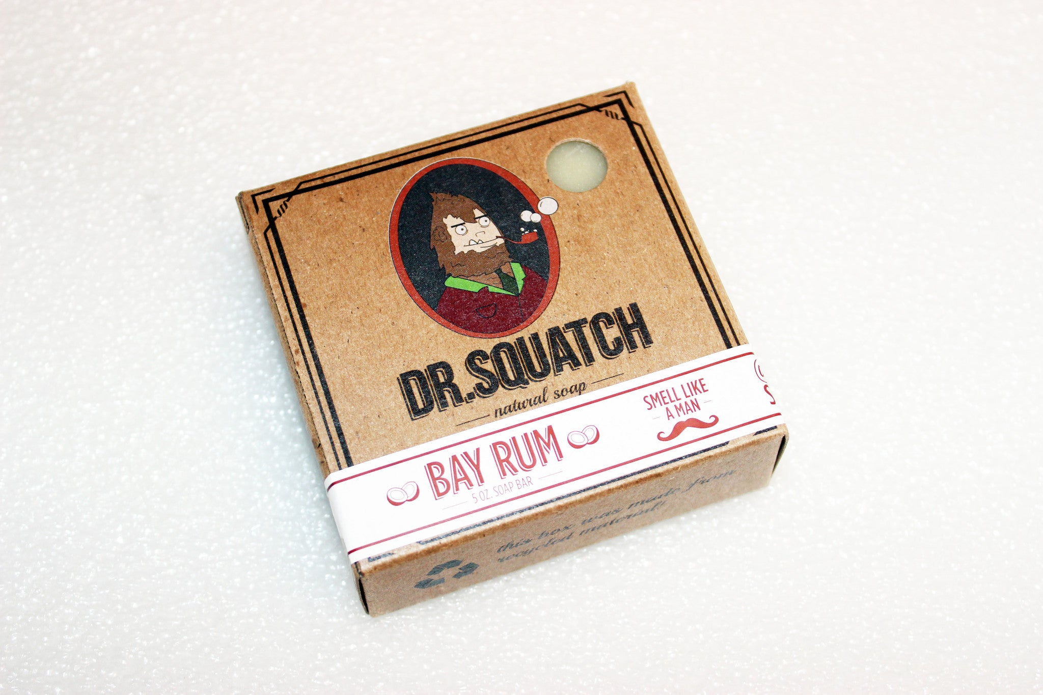 Dr. Squatch Bay Rum Soap packaging