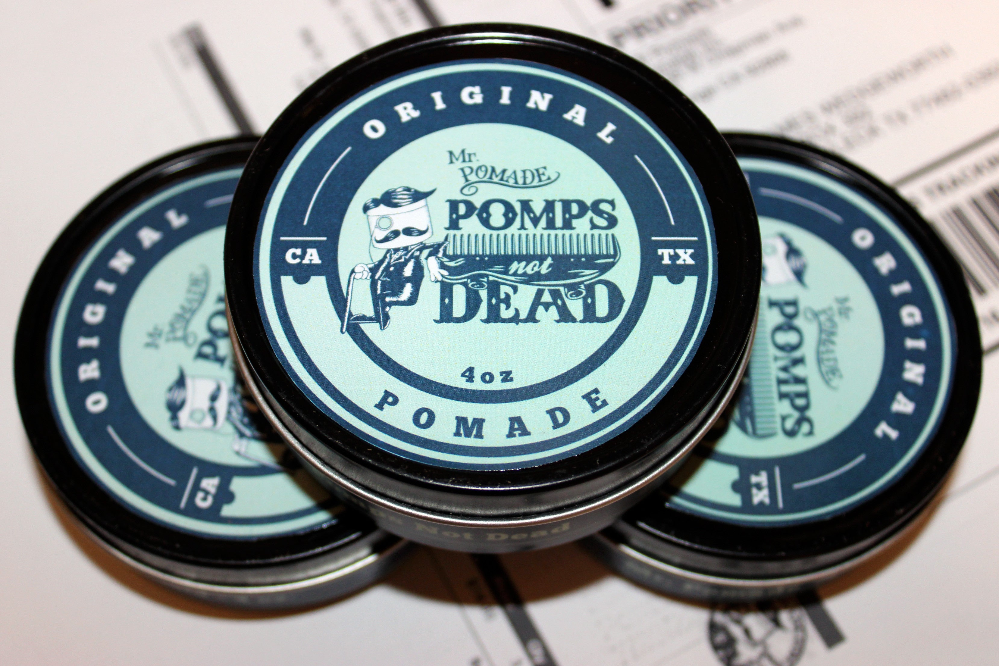 Pomps Not Dead Mr. Pomade collaboration
