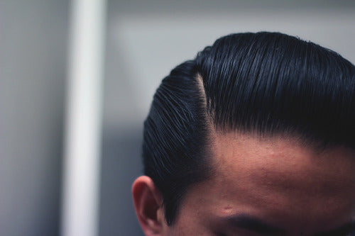The Pomp's Sidepart With Layrite Deluxe Pomade