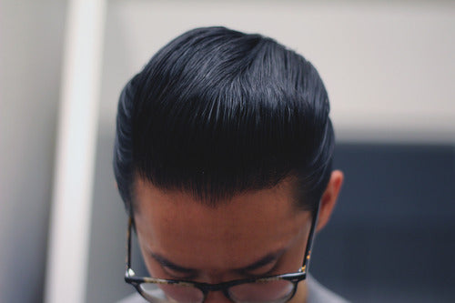 Pompadour With Uppercut Deluxe Pomade