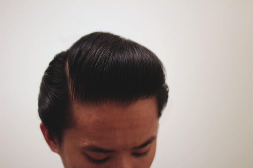 Sidepart Styled With Mr. Natty Pomade Wax