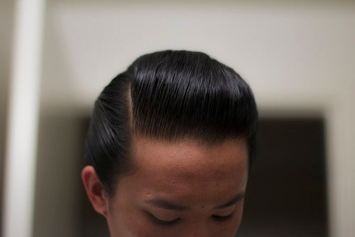 Sidepart Styled With Railcar Pomade