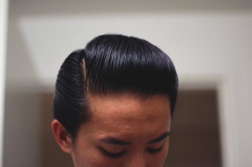 Sidepart Styled With Reuzel Grease Pomade