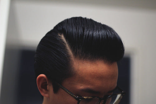Elegant Sidepart With Uppercut Deluxe Pomade