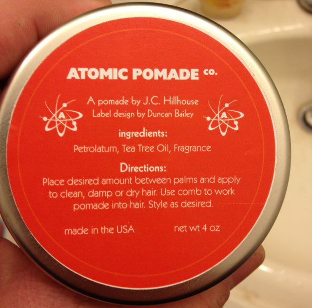 Atomic Pomade Bottom Label