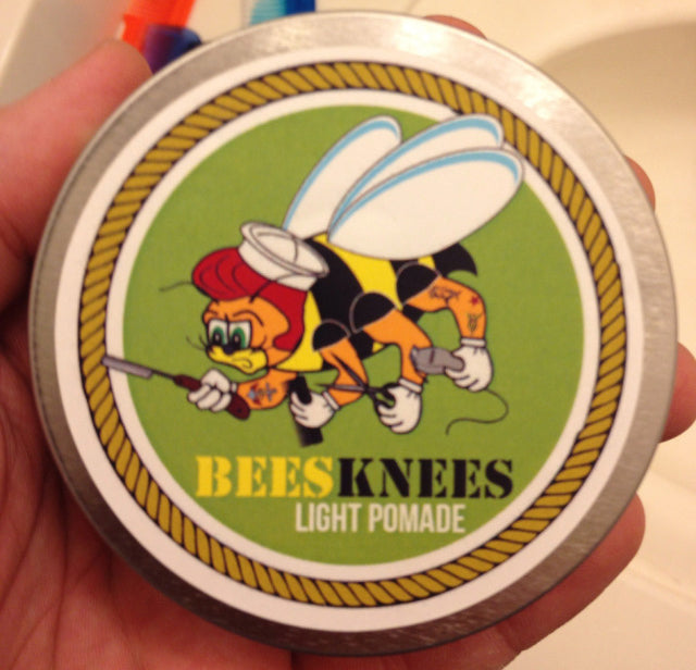 Bees Knees Light Pomade Top Label
