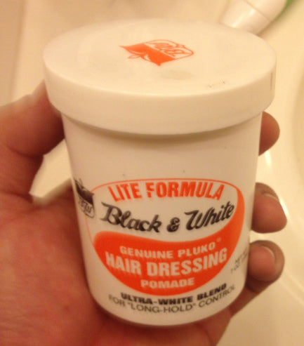 Black and White Lite Pomade Can