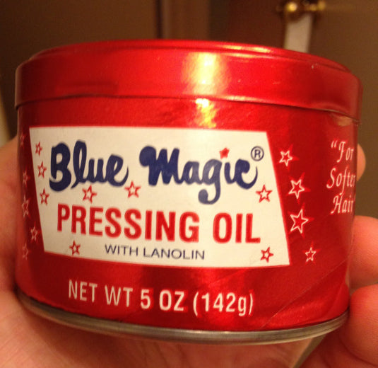 Blue Magic Pressing Oil can