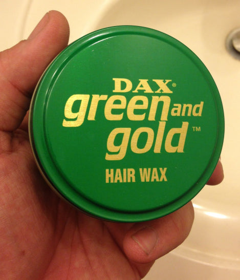 DAX Green and Gold Hair Wax Top Can