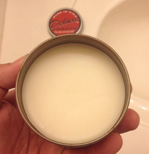 Deluxe Pomade open can