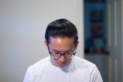 The Pomp hair re-styled with Doc Elliott Pure Pomade Firm Hold - top view pomp