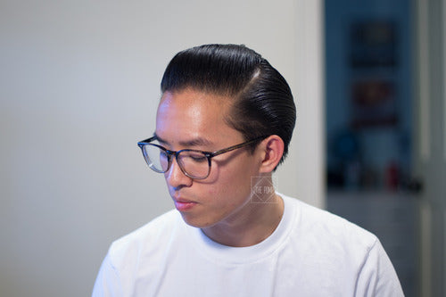 The Pomp hair re-styled with Doc Elliott Pure Pomade Firm Hold - side view pomp