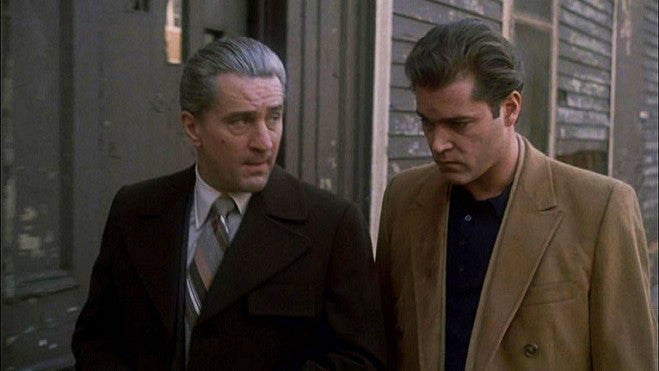 Robert Di Nero and Ray Liotta in the movie Goodfellas