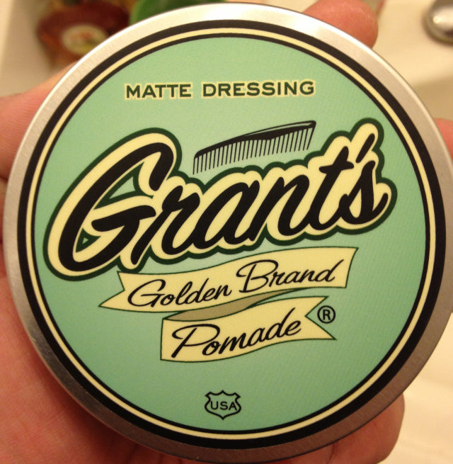 Grant's Golden Brand Matte Dressing top label
