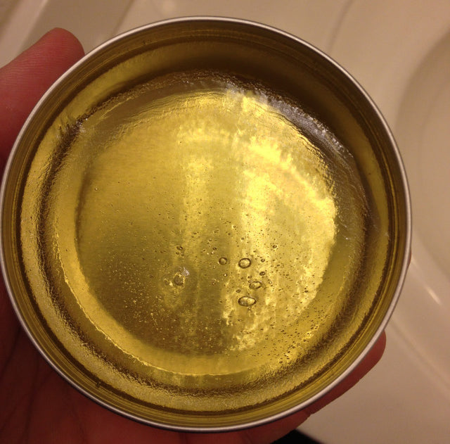 Grant's Golden Brand Pomade open can