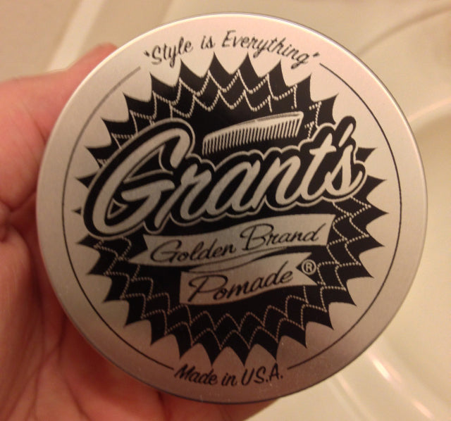 Grant's Golden Brand Pomade top label