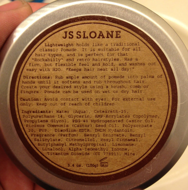 JS Sloane Brilliantine bottom label
