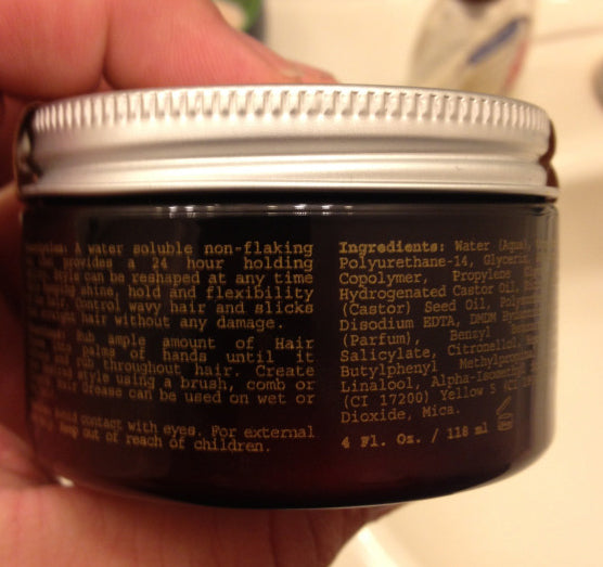 JS Sloane Mediumweight Brilliantine back label