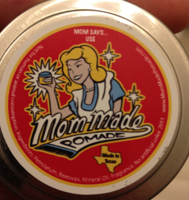 Mom Made Medium Weight Pomade top label