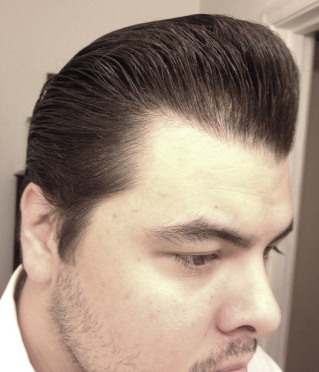 JC Hillhouse hair styled with Formula X - right side view