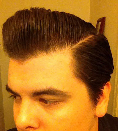 JC Hillhouse hair styled with Rusak No 2 Pomade