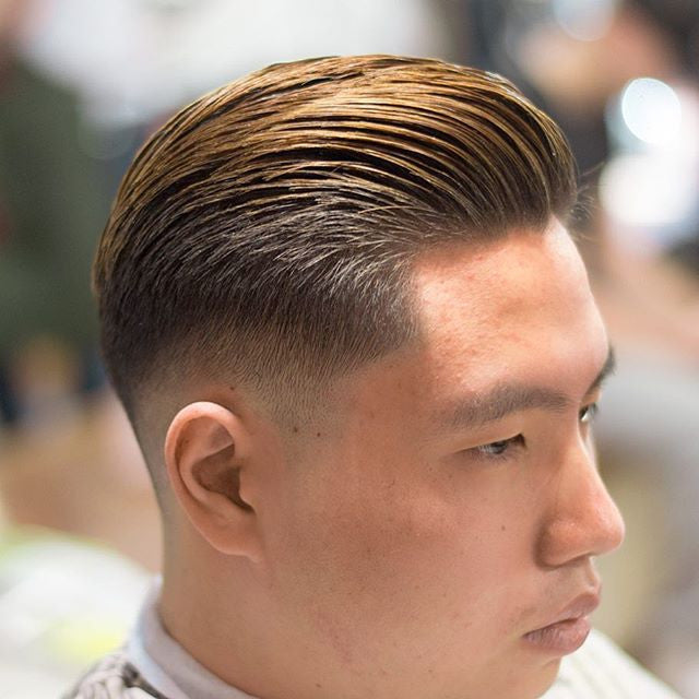 Mid Fade Pomp on a Gentleman